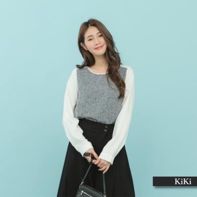 【KiKi】上班族系列優雅-襯衫(二色)