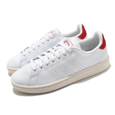 adidas 休閒鞋 Advantage 復古 男鞋 愛迪達 三葉草 皮革鞋面 穿搭 白 紅 FY8808