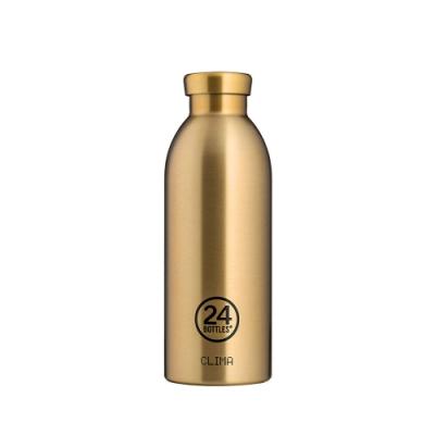 義大利 24Bottles 不鏽鋼雙層 保溫瓶 500ml - 香檳金