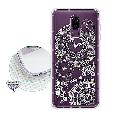 浪漫彩繪 Samsung Galaxy J8 水鑽空壓氣墊手機殼(齒輪之星)