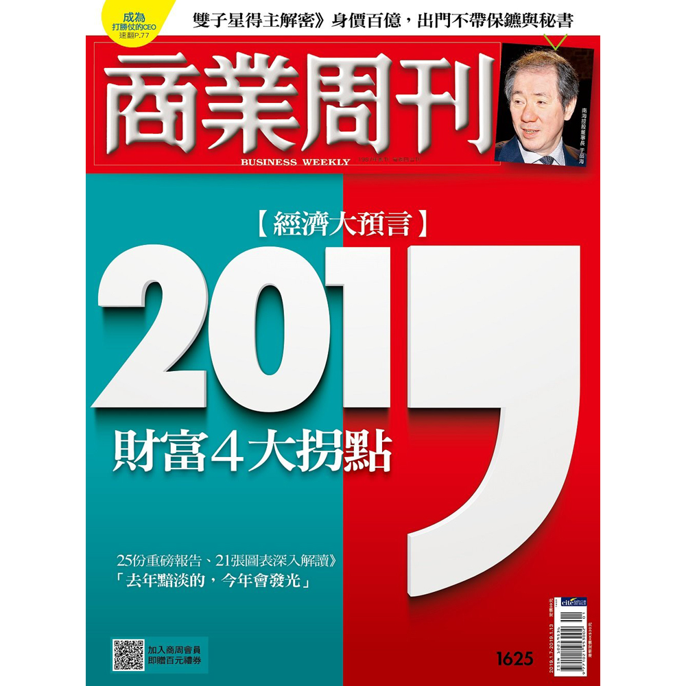 商業周刊(一年52期)再送5期共57期及400元家樂福現金提貨券