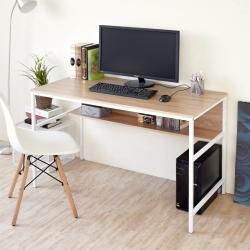 《HOPMA》DIY巧收歐森雙層工作桌-寬121.5 x深60.5 x高75cm