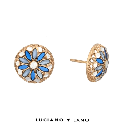 LUCIANO MILANO 聖芎之頂純銀耳環(天藍)