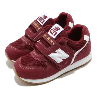 New Balance 休閒鞋 996 Wide 寬楦 運動 童鞋 紐巴倫 基本款 簡約 魔鬼氈 小童 紅 白 IZ996CPHW