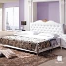 漢妮Hampton莎碧娜歐風6尺白色雙人床組-184x204x124cm
