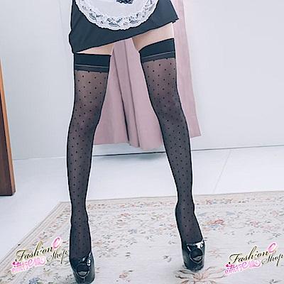 絲襪大腿襪 台灣製甜心日系點點性感絲襪 透膚黑絲襪 流行E線