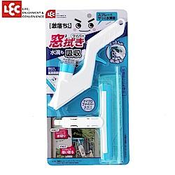 日本LEC 激落窗戶清潔刮刀刷附抹布