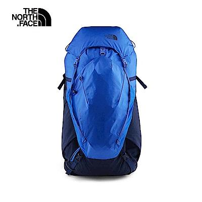 The North Face北面男女款藍色舒適透氣休閒登山後背包 3S5JMTB