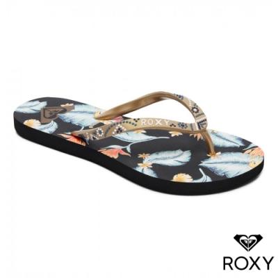 【ROXY】SANDEE V 夾腳拖鞋 黑