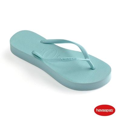 Havaianas哈瓦仕 拖鞋 夾腳拖 人字拖  巴西 女鞋 天藍 4144537-1669W Slim Flatform