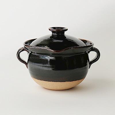日本土樂窯 伊賀燒燉煮土鍋(23.5cm)(7寸)