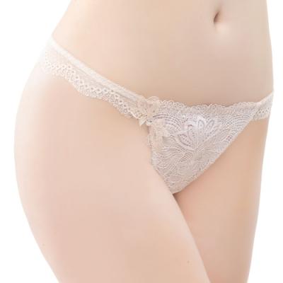 思薇爾 撩波系列M-XL蕾絲低腰丁字褲(白玫瑰)