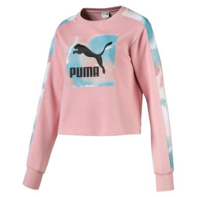 PUMA-女性流行系列Cloud圓領衫-新娘玫瑰-歐規