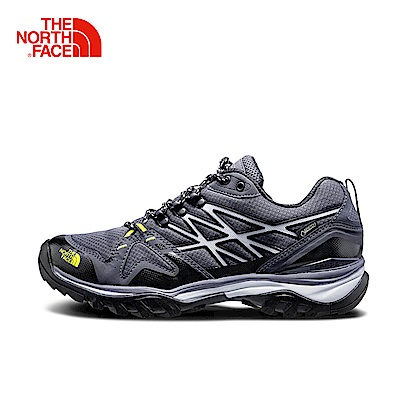 The North Face北面男款黃色防水透氣徒步鞋