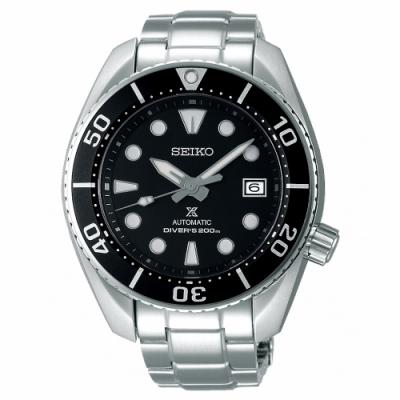 SEIKO 精工PROSPEX運動200米潛水機械錶SPB101J1-黑X銀/45mm