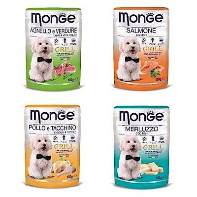 Monge Grill 炙燒無穀系列 肉塊鮮食包 100g 12包組