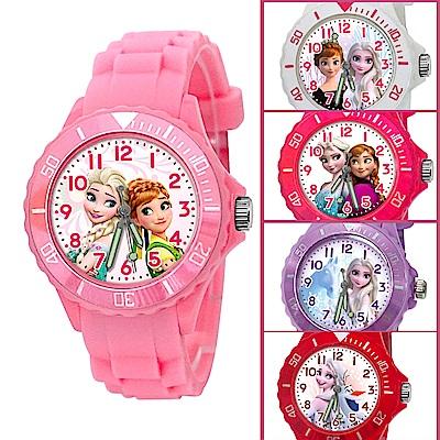 【Disney迪士尼】冰雪奇緣系列運動彩帶手錶_8款任選