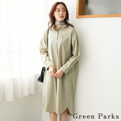 Green Parks 棉質襯衫式連身洋裝
