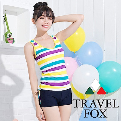 夏之戀TRAVEL FOX  活力長版二件式泳衣