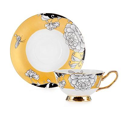 Royal Duke 骨瓷咖啡杯碟組-金喜(牡丹)(二杯二碟)