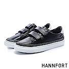 HANNFORT CAMPUS (訂製款)星座電繡徽章厚底休閒鞋-女-黑
