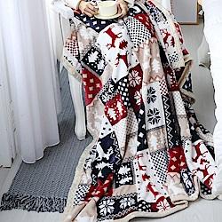 MONTAGUT-法蘭絨保暖毯-麋鹿