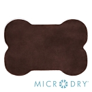 Microdry 舒適記憶綿造型地墊/浴墊【巧克力/S】