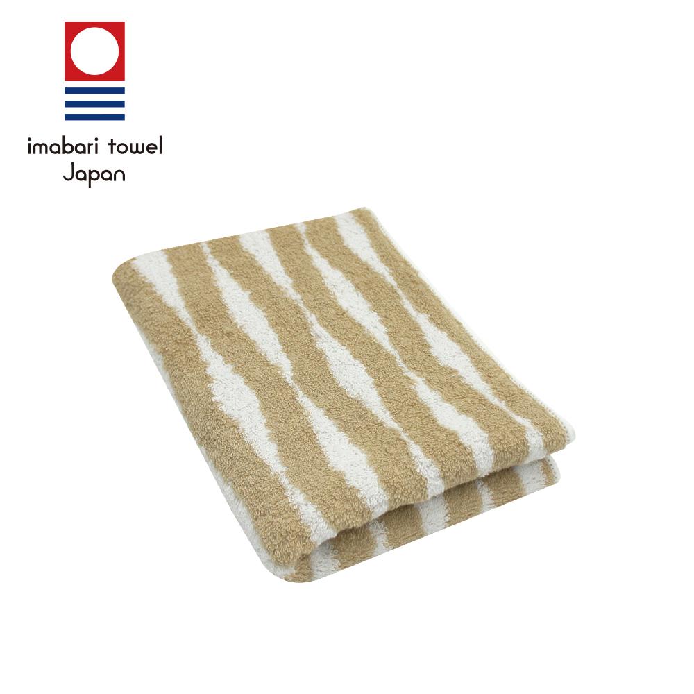 日本今治 純天然有機棉無染色毛巾(海波紋-秋香綠)