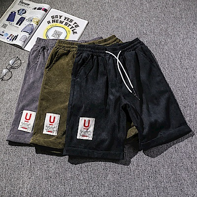 BuyGlasses 韓感抽繩運動休閒棉質短褲