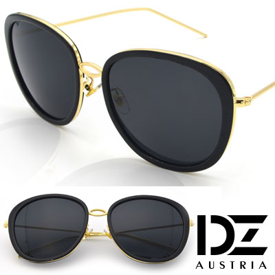 DZ 風華圓舞曲 防曬抗UV太陽眼鏡造型墨鏡(黑框灰片)