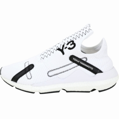 Y-3 Reberu 刺繡標誌彈性面料襪套運動鞋(男款/白色)