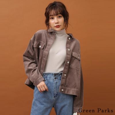 Green Parks 率性俐落燈心絨雙口袋外套