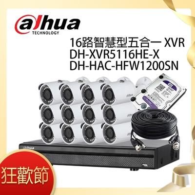 【大華dahua】套餐-奢華版16路12鏡(主機+12攝影機+3配件)
