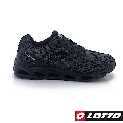 LOTTO 義大利 男 HYBRID 風動跑鞋 (黑)