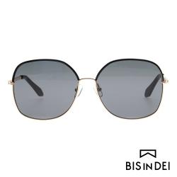 BIS IN DEI 精緻金屬方框太陽眼鏡-黑