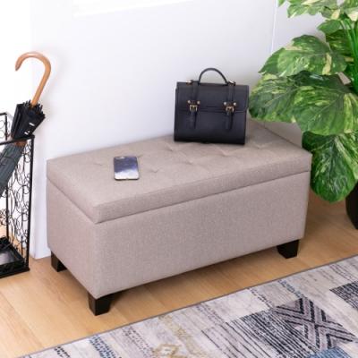 AS-荷莉收納穿鞋椅/長凳/雙人椅-89x38x43cm(DIY)