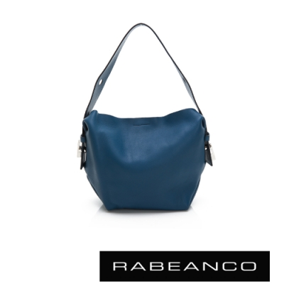 RABEANCO RIKKA 時尚牛皮手提/肩背包(小) 藍