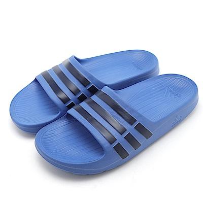 ADIDAS-童休閒拖鞋CP9383-深藍