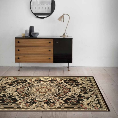 范登伯格 - 赫諾 立體絲質地毯 - 華貴黑 (135 x 195cm)