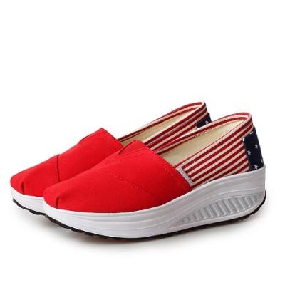 韓國KW美鞋館 美式作風完美再現健走鞋-紅