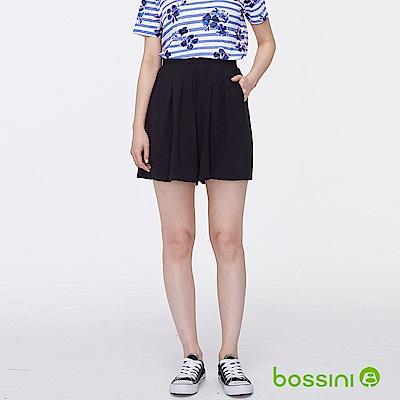 bossini女裝-時尚寬版短褲03黑