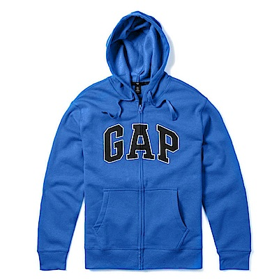 GAP 經典LOGO連帽外套-寶藍色