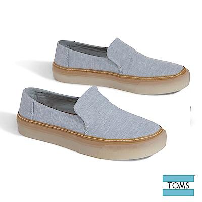 TOMS  織紋帆布果凍膠底休閒鞋-女款