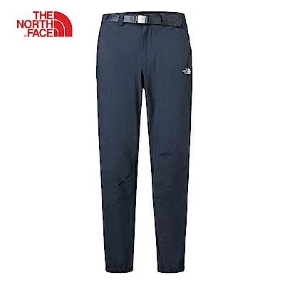 The North Face北面男款藍色吸濕快乾休閒長褲 3GD6H2G