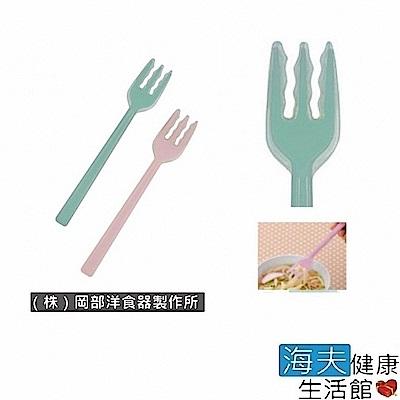 海夫 日華 餐具/叉匙 安全餐具 矽膠叉子 日本製(E0937)