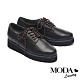 休閒鞋 MODA Luxury 沉穩質感全真皮綁帶厚底休閒鞋-黑 product thumbnail 1
