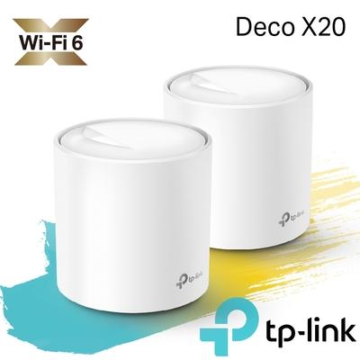 TP-Link Deco X20 AX1800 真Mesh 雙頻智慧無線網路WiFi 6 網狀路由器(Wi-Fi 6分享器)(2入組)