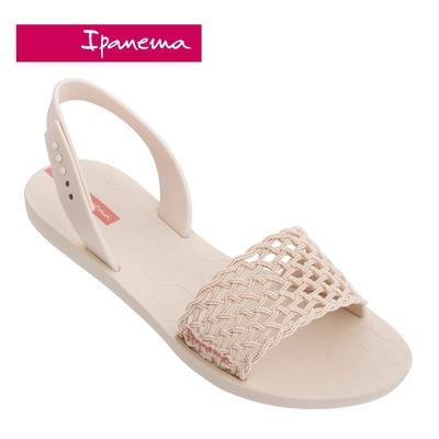 Ipanema BREEZY 波西米亞風 編織網設計一字涼鞋-米白