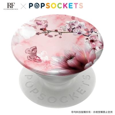 Richmond&Finch 聯名 PopSockets泡泡騷二代手機支架-粉大理石紋櫻花