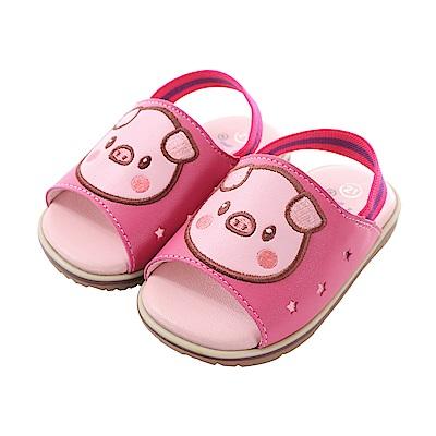 豬寶寶手工止滑涼鞋 sk0706 魔法Baby